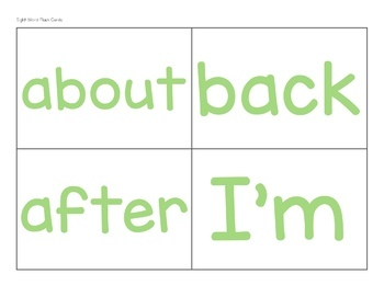 Sight Word Flashcards B&W AND Color (25, 50,100 High Frequency Word Flashcards)