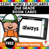 Sight Word Flashcards 2nd Grade Boom Cards (Distance Learning)
