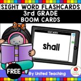 Sight Word Flashcards 3rd Grade Boom Cards (Distance Learning)