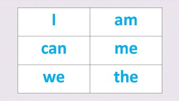 Sight Word Flashcards (Bam! Game)
