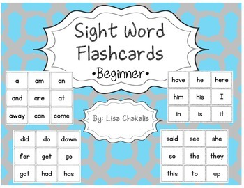 Sight Word Flashcards - Beginner