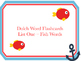 Sight Word Flashcards - Complete Dolch Words - 5 Sets