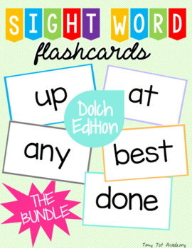 Sight Word Flashcards: Dolch Edition (The BUNDLE)