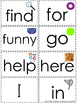 Sight Word Flashcards {Dolch Pre-Primer and Primer}