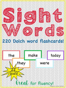Sight Word Flashcards: Dolch Word List