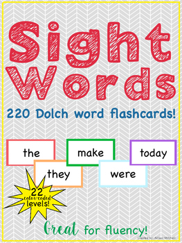 Sight Word Flashcards: Dolch Word List