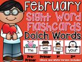 Sight Word Flashcards {February}
