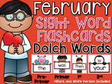Sight Word Flashcards {February}