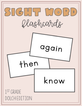 Sight Word Flashcards: First Grade Dolch Edition