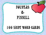 Sight Word Flashcards - Fountas and Pinnell 100 Word List