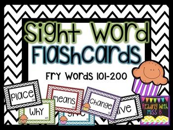 Sight Word Flashcards - Fry List Words 101-200