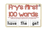 Sight Word Flashcards - Fry's First 100 Words