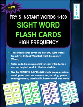Sight Word Flashcards: Fry's Instant Words 1-100