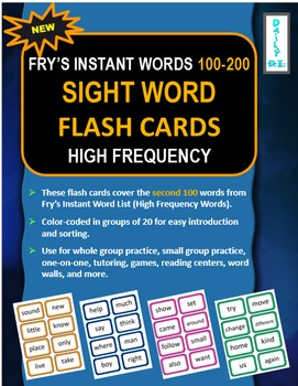 Sight Word Flashcards: Fry's Instant Words 100-200