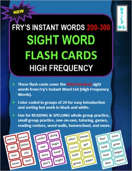 Sight Word Flashcards: Fry's Instant Words 200-300