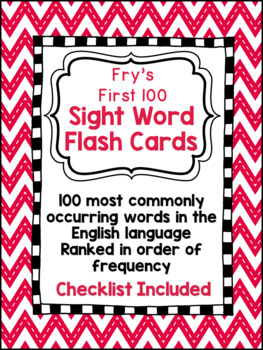 Sight Word Flashcards, Fry's 1st 100