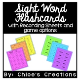 Sight Word Flashcards: with Recording Sheets and Game Options