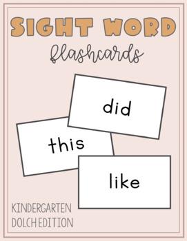 Sight Word Flashcards: Kindergarten Dolch Edition