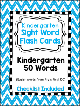 Sight Word Flashcards, Kindergarten Words 1-50, Literacy First
