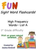 #Mondaymadness Sight Word Flashcards (List A)