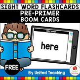 Sight Word Flashcards Pre-Primer Boom Cards (Distance Learning)