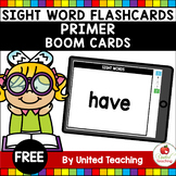 Sight Word Flashcards Primer Boom Cards (Distance Learning)