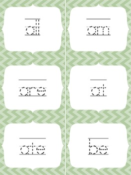 Sight Word Flashcards: Primer {tracing}