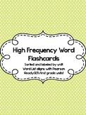 Sight Word Flashcards (ReadyGEN first grade)