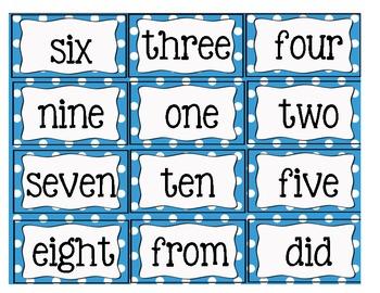 Sight Word Flashcards Set 1