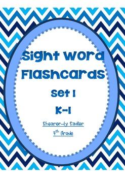 Sight Word Flashcards-Set 1-Kindergarten-Grade 1