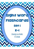 Sight Word Flashcards-Set 1-Kindergarten-Grade 1