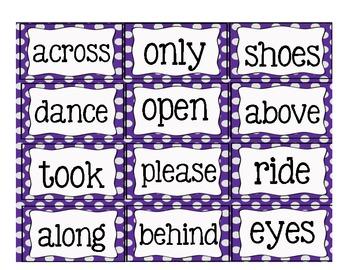 Sight Word Flashcards Set 2