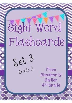 Sight Word Flashcards Set 3 Grade 2