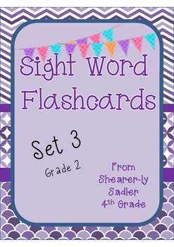 Sight Word Flashcards Set 3 Grade 2