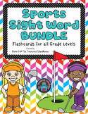 Sight Word Flashcards - Sports BUNDLE