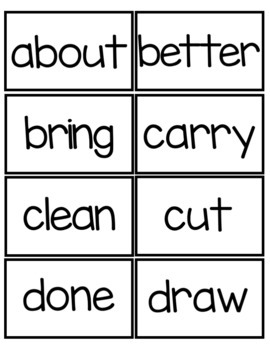 Sight Word Flashcards: Third Grade Dolch Edition