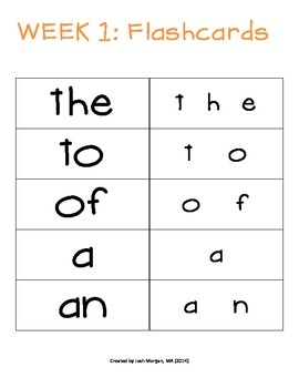 Sight Word Flashcards, Time Delay, Multiple Measures