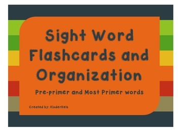 Sight Word Flashcards and Organization