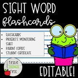 Sight Word Flashcards and Progress Monitoring- EDITABLE!