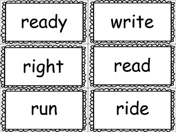 Sight Word Flashcards for Articulation Practice