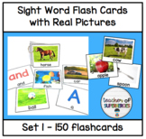 Sight Word Flashcards with Pictures (all 150 Edmark Level 1 words)