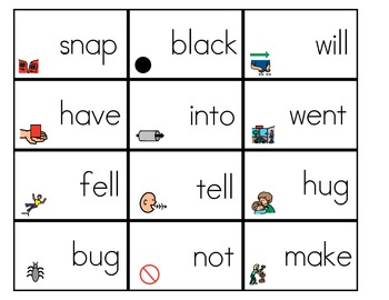 Sight Word Flashcards with Visuals