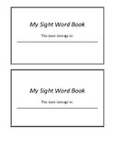 Sight Word Flip Book