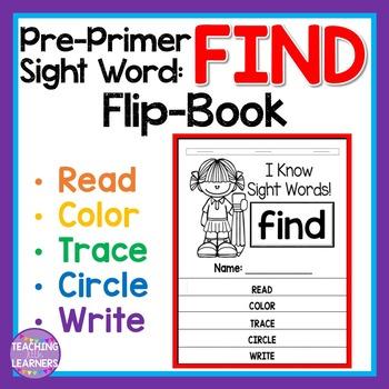 Sight Word Flip Book: FIND