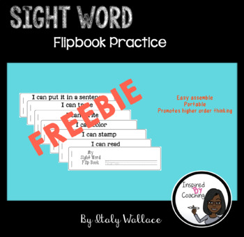 Sight Word Flip Book FREEBIE