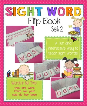 Sight Word Flip Book - Set 2