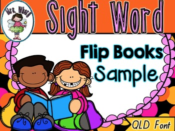 Sight Word Flip Book  {Turn & Learn} QLD Font SAMPLE