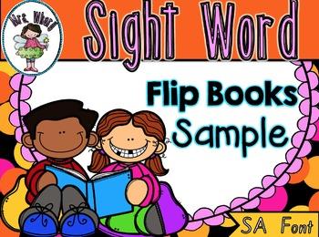 Sight Word Flip Book  {Turn & Learn} SA Font SAMPLE