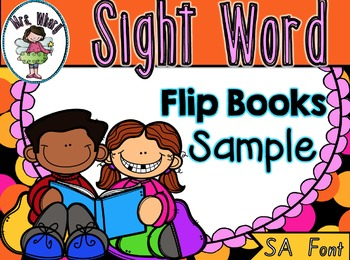 Sight Word Flip Book  {Turn & Learn} SET 1 (SA)