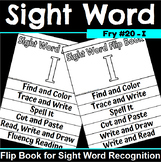 Sight Word Flip Book for I